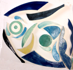ceramic wallpiece