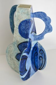 blue ceramic piece
