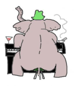 elephant on the keyboard