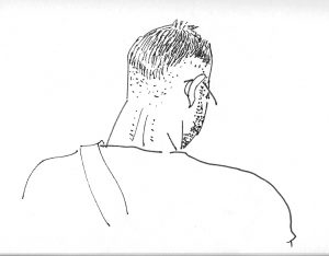 sketch of man from behind