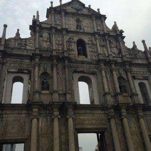 Ruined facade of St Paul church, Macau