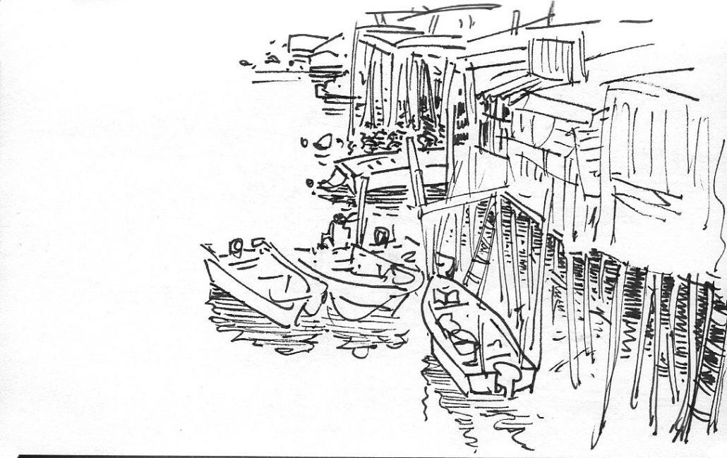 sketch of Tai O village