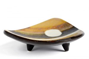 three legged ceramic bowl