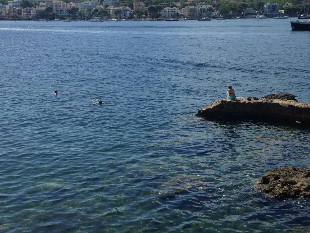 photo of people swimming in Mallorca