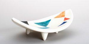 ceramic bowl with three legs